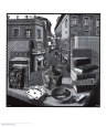 Nature morte et rue Reproduction d'art par M. C. Escher