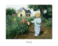 People in Gardens (Decorative Art) Posters