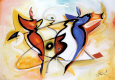 Dansende engle Kunsttryk af Alfred Gockel