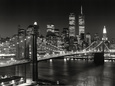 New York, New York, Brooklyn Bridge Kunsttryk af Henri Silberman