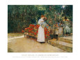 After Breakfast, 1887 Art Print by Childe Hassam