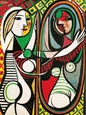 Jeune Fille Devant Un Miroir 1932 Reproduction d'art par Pablo Picasso