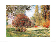 Le parc Monceau Reproduction d'art par Claude Monet