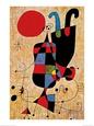 Upside-Down Figures Kunsttryk af Joan Miró