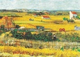 The Reaping at La Crau Art Print by Vincent van Gogh