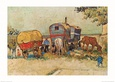 Caravans Encampment of Gypsies Art Print by Vincent van Gogh