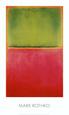 Grøn, rød, på orange Kunsttryk af Mark Rothko
