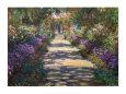 Haven i Giverny Kunsttryk af Claude Monet