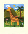 Gerry the Giraffe Art Print by Sophie Harding