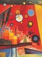 Heavy Red Art Print by Wassily Kandinsky