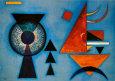 Blødt, hårdt Kunsttryk af Wassily Kandinsky