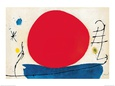 Le soleil rouge Reproduction d'art par Joan Miró