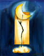 Moon Dance Kunsttryk af Alfred Gockel