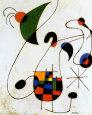 Cantante melancólico Lámina por Joan Miró