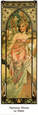 Matin Reproduction d'art par Alphonse Mucha