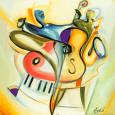 Bass-Ic Instinct Kunsttryk af Alfred Gockel