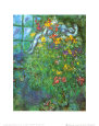 Le Bouquet Ardent Kunsttryk af Marc Chagall