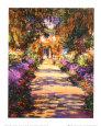 Havegangen Kunsttryk af Claude Monet
