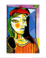 Girl with Red Beret Konsttryck av Pablo Picasso