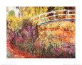 Den Japanske Bro Kunsttryk af Claude Monet