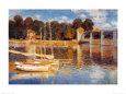 Broen ved Argenteuil Kunsttryk af Claude Monet