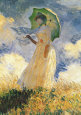 Woman with Umbrella (Monet) Posters