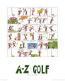 A-Z of Golf Art Print by Nicola Streeten