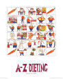 A-Z of Dieting Art Print by Nicola Streeten