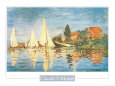 Regatta at Argenteuil Lámina por Claude Monet