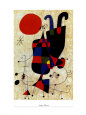 Dog in Front of the Sun Art Print by Joan Miró