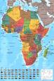 Kort over Afrika Posters