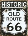 Route 66 (Metal Tabelalar) Posters