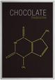 Chocolate (Theobromine) Molecule Plakát