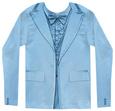 Long Sleeve: Blue Tuxedo Costume Tee Koszulka z długim rękawem
