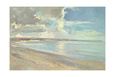 Reflected Clouds, Oxwich Beach, 2001 Giclée-tryk af Timothy Easton