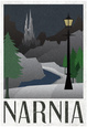 Narnia Retro Travel Poster Póster