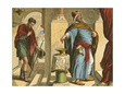 The Pharisee and the Publican Giclée-tryk af English School