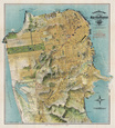 Map of San Francisco, California, 1912 Kunsttryk af August Chevalier