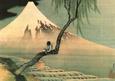Boy on the Tree Mini Poster ilâ Katsushika Hokusai
