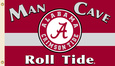 NCAA Alabama Crimson Tide Man Cave Flag with Four Grommets Bandera