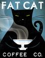 Cat Coffee Umělecká reprodukce od Ryan Fowler