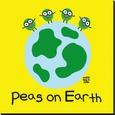 Peas On Earth Lærredstryk på blindramme af Todd Goldman