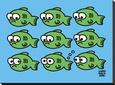 Fish Fart Lærredstryk på blindramme af Todd Goldman