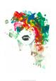 Black Lips Lámina por Lora Zombie