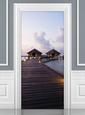 Maldives Dream Hut Door Wallpaper Mural Mural de papel de parede