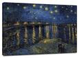 Starlight over Rhone Reproducción en lienzo de la lámina por Vincent van Gogh