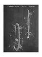 Skateboard Patent 1980 Reprodukcja