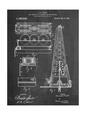 Drilling Rig Patent Umělecká reprodukce