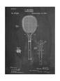 Tennis Racket Patent Umělecká reprodukce