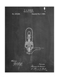 Thomas Edison Light Bulb Patent Reprodukcja